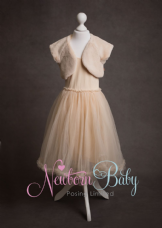 Dress & Bolero ~ Pale Peach Age 2-3